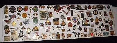 Lot of 99 Vintage Pins Olympics Boy Scout Home Depot POW MIA Styx Animals #17