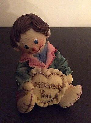 Missed You , puppet boy ornament,