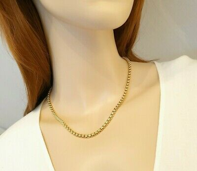 Argos Source 22 inch 18ct gold Braided Wheat Rope Chain Necklace 2.5mm thickness