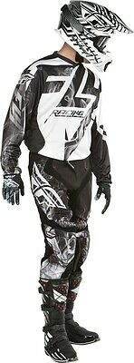 New 34 L Adult Fly Lite Hydrogen Combo Jersey Pants Kit Black/White Motocross