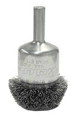 """Weiler 10047 Circular Flared Crimped Wire End Brush, 1-1/2"""", 0.20"""" Stainless"""