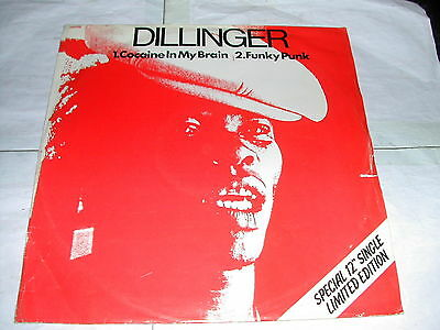 "Dillinger - Cocaine In My Brain - Special Limited Edition 12"" In White Vinyl"
