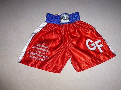George Foreman Genuine Hand Signed Autographed Boxing Shorts And Onsite Program