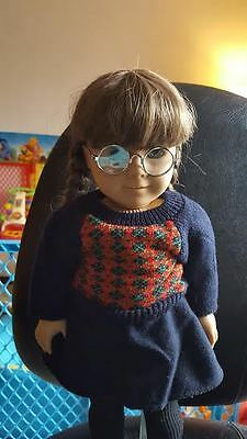 "American Girl Doll RETIRED Molly Pleasant Company 18""Doll Wearing Meet Dress"