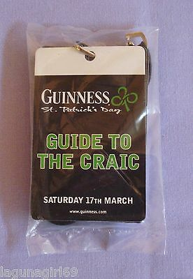 Guinness St Patrick's Day Lanyard For Keys ID Security Pass Holder Unused in Bag