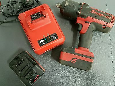 "Snap On 18v 1/2"" Impact Wrench Gun. 2 Batteries and Charger. (VAT Included)."