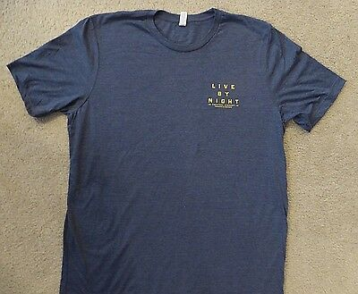 Live By Night T-Shirt Adult Sz Large  Brand New Authentic Studio Movie Promo