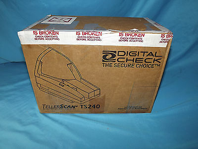 TS240 TellerScan Digital Check  Check Scanner 75dpm  *NEW IN BOX*