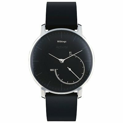 Withings Activité Steel Activity & Sleep Tracker Leather Tracking Watch - Black