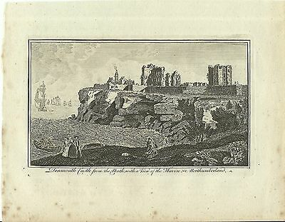 Antique Print Of Tinmouth (Tynemouth) Castle From The North Alex Hogg C1770-90