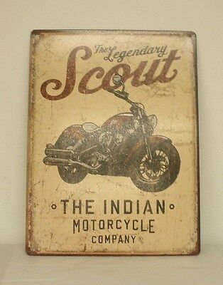 "Indian Motorcycle ""Scout Motorcycle"" Metal Sign (2863975) NEW"