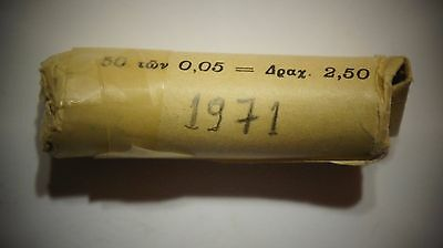 Greece Roll of 50 Coins 5 Lepta 1971