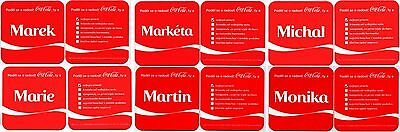 6 vintage coca cola mats coasters : Share a Coke with name Marek Martin Marie