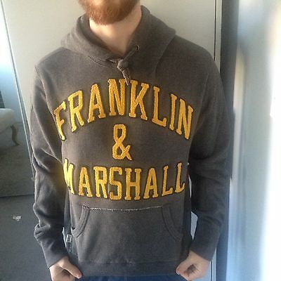 franklin and marshall hoodie - Grey Size Small