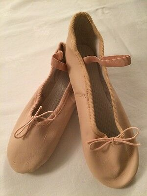Pink Leather Ballet Shoes Uk Size 8 Brand New