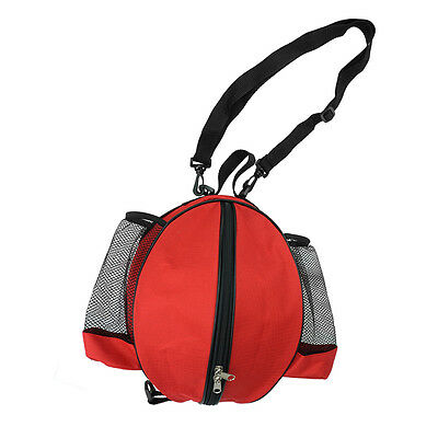 Basketball Bag Soccer Ball Football Volleyball Softball Sports Ball Bag (Red)