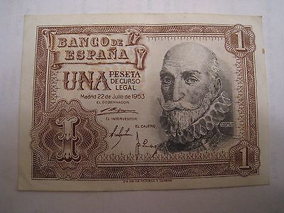 One Peseta note in reasonable condition