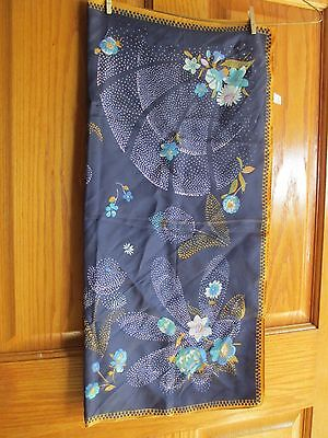 Vintage square Acetate/Twill Water Repellent scarf