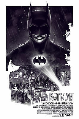 Batman 1989 Alt Movie Poster by Patrick Connan No. /100 NT Mondo