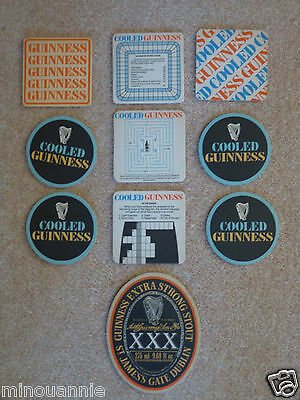 Collection of Vintage Guinness Beer Mats -1975-1985.