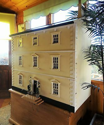 """""""Arkleside"""" A large Georgian style Dolls House, decorated & with working lights"""