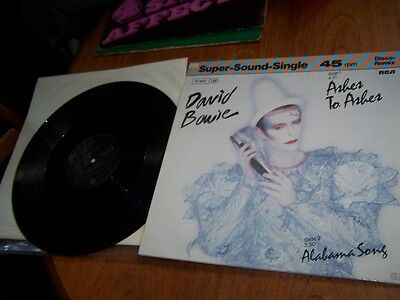 "Rare David Bowie 'ashes To Ashes' Supersound 12"" Single"