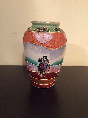Japanese vase, hand painted
