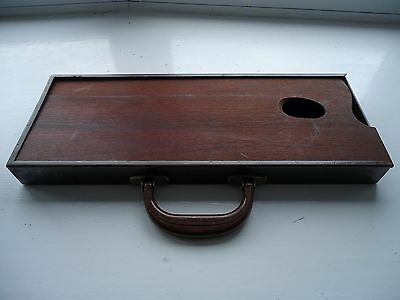 Artist's Vintage Travelling Paint Box With Integral Palette