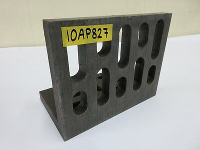 """10"""" x 8"""" x 6"""" Steel Angle Plate Slotted Workholding Fixture"""