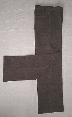 Vintage Stretch Trousers - Age 12-152 cm - Brown Marl - Zip Front - New.
