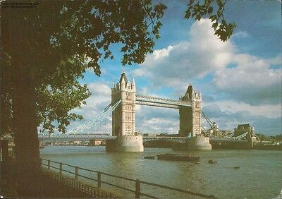 Tower of London, Tower Bridge from the Wharf, 1989
