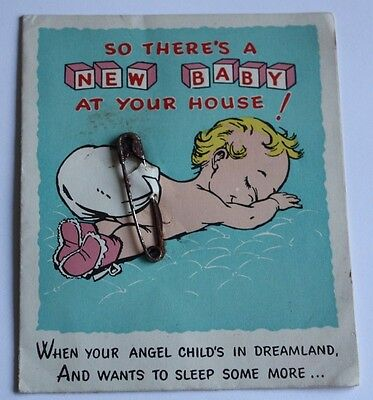 Vintage New Baby Greetings Card Barker Cards No. 307