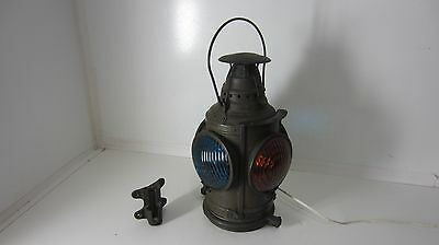 Dressel 4 Way Railroad Lamp Lantern w/All Lenses, Bracket - Wired for Bulbs.