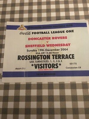 Ticket : Doncaster Rovers V Sheffield Wednesday - 04/05