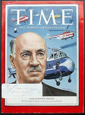 Igor Sikorsky Aviation Pioneer & Designer Of Helicopters & Aircraft Autograph #2
