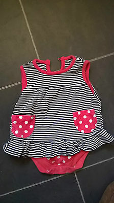 Baby top with  attached bodysuit size 3-6 months