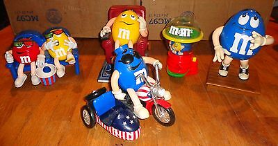 Lot of 5 M&M's Candy Dispensers