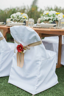 Folding Polyester Chair Covers Wedding Party Shower or Banquet 3 Colors!