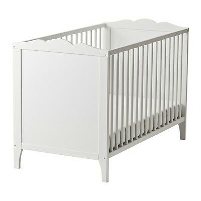 ikea HENSVIK white baby bed cot and mattress for child's bedroom