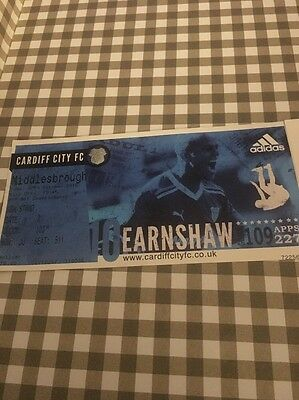 Ticket : Cardiff City V Middlesbrough - 15/16