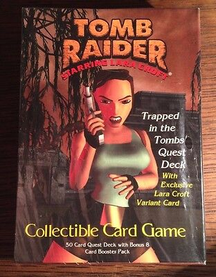 Sealed Tomb Raider Trapped In The Tombs Theme Deck With Exclusive Lara Card