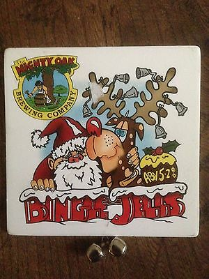 BINGLE JELLS - 'Christmas' - Real Ale / Beer Pump Clip with tinkling bells