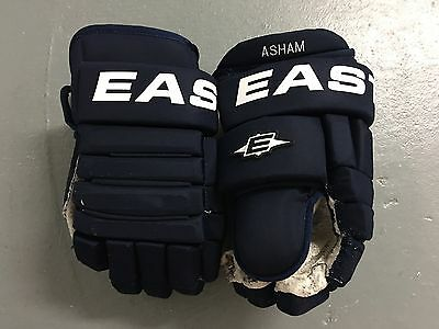 """Easton Pittsburgh Penguins NHL Winter Classic Pro Stock Hockey Player Gloves 13"""""""