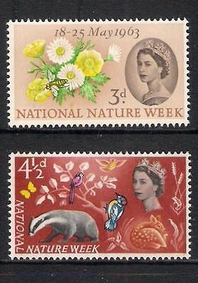 SG637/8 1963 NATURE WEEK Unmounted Mint GB