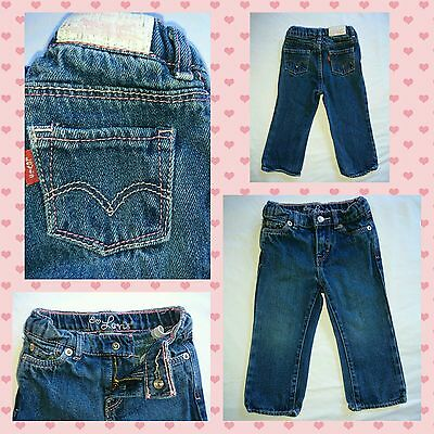Gorgeous Baby Girls Levi's Red Tab Jeans, Blue and Sized 18 Months