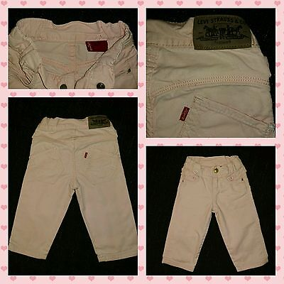 Stunning Baby Girls Levi's Red Tab Jeans. Pink and Sized 12 Months