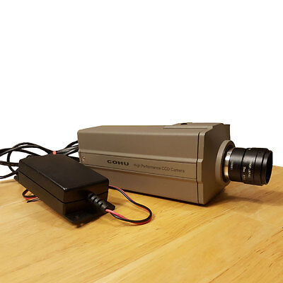 COHU High Performance CCD Camera 4912-5010 with Power Supply