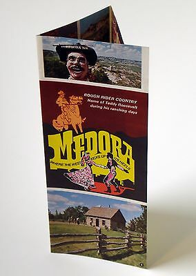 Vtg 70s Medora North Dakota Travel Brochure Teddy Roosevelt Zoo Table Setting