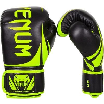 Venum Challenger 2.0 Boxing Gloves MMA UFC Sparring Striking Neo Yellow/Black