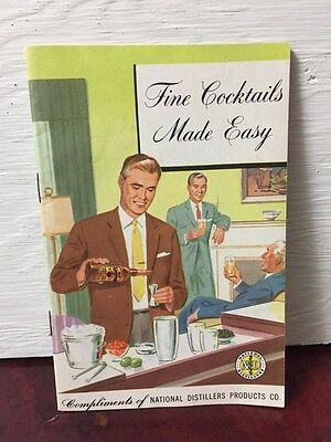 National Distillers Whiskey Advertising Recipe Booklet Cocktail Mixed Drink Vtg